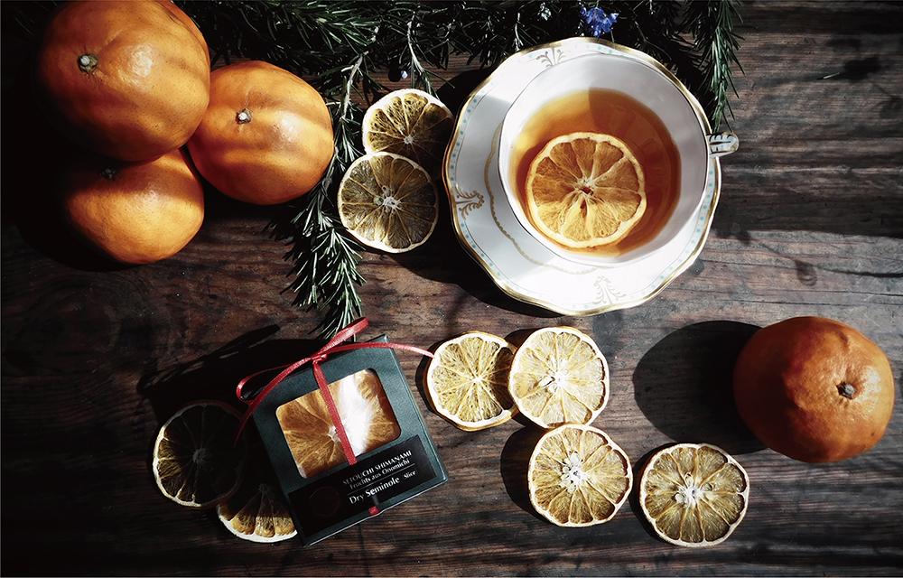 尾道でとれたレッカーバロンこだわりの「幻の柑橘」貴重な完熟セミノールを贅沢に輪切りにしてそのままドライフルーツにしました